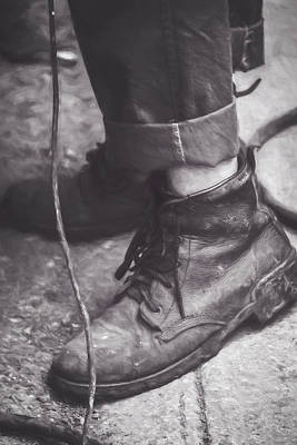 Photograph - Boots Of A Working Man Artistic by Joan Carroll