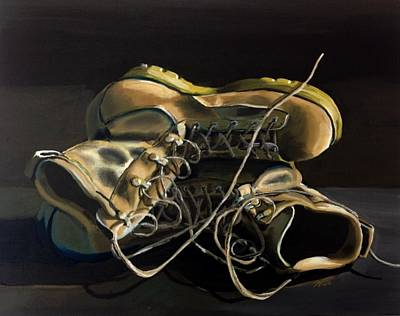 Iraq Painting - Boots On Ground by Donny Johnson