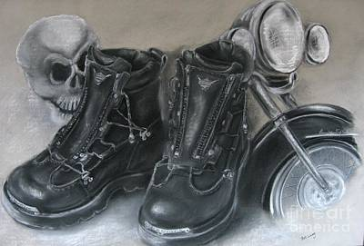 Painting - Boots by Patricia  Lang