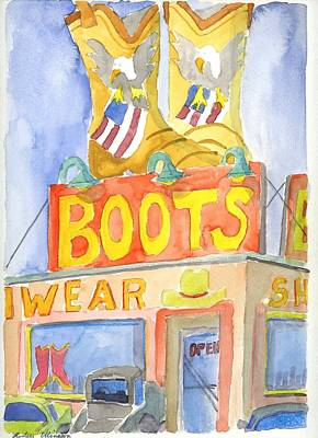 Painting - Boots by Rodger Ellingson