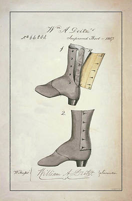 Drawing - Boots by Vintage Pix