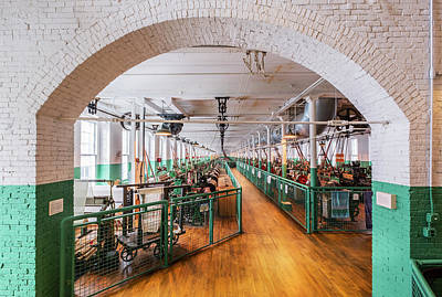 Photograph - Boott Cotton Mill Weaving Room by Betty Denise