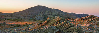 Photograph - Boott Spur Sunset Glow Panorama by Chris Whiton