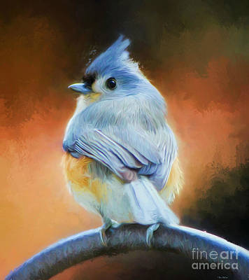 Tufted Titmouse Digital Art - Bootylicious by Tina LeCour