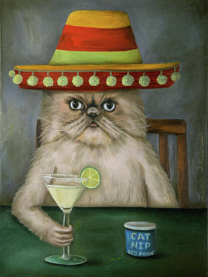 Cantina Painting - Boozer 3 by Leah Saulnier The Painting Maniac