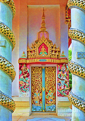 Photograph - Bophut Temple In Thailand by Charlene Mitchell
