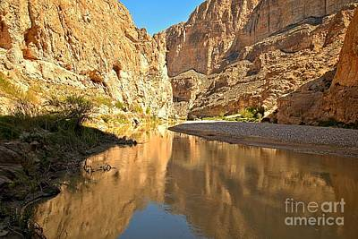 Photograph - Boquillas Canyon Reflections by Adam Jewell