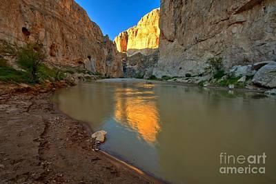 Photograph - Boquillas Canyon Sun Kiss by Adam Jewell