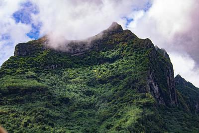 Photograph - Bora Bora Mountain Top by Martin Naugher