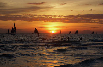 Photograph - Boracay Sunset by Christopher Rowlands