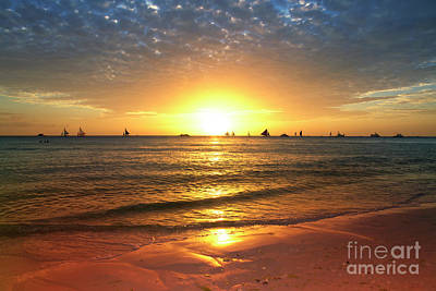 boracay,Philippians 4 Art Print by Mark Ashkenazi