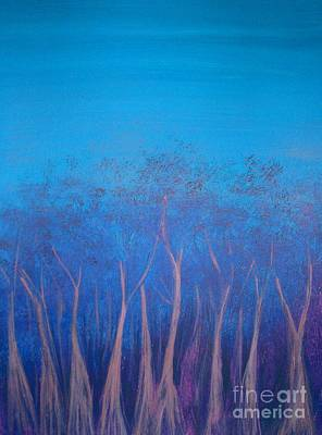Painting - Boranup Forest In Blue by Leonie Higgins Noone