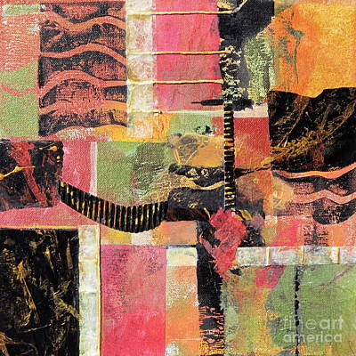 Earthtones Mixed Media - Bordeaux by Deborah Ronglien