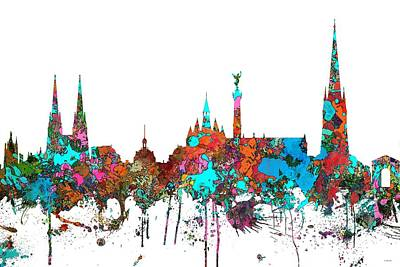 Digital Art - Bordeaux France  Skyline  by Marlene Watson