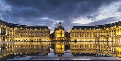 Photograph - Bordeaux Place De La Bourse  by Pier Giorgio Mariani