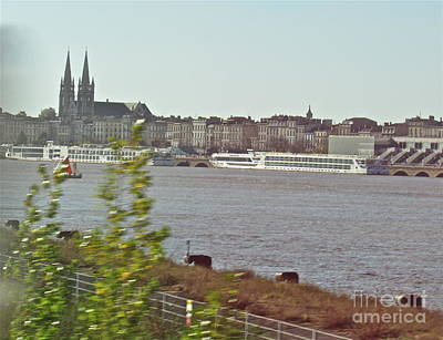 Photograph - Bordeaux Riverview by Barbara Plattenburg
