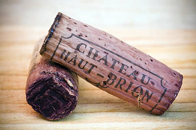 Food And Beverage Royalty-Free and Rights-Managed Images - Bordeaux Wine Corks by Frank Tschakert