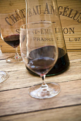 Glassware Photograph - Bordeaux Wine Tasting by Frank Tschakert