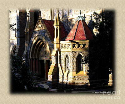 Photograph - Border  - Baptistry, Packer Memorial Church by Jacqueline M Lewis