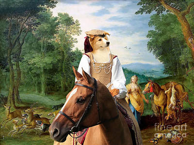 Painting - Border Collie Art Canvas Print - Diana On The Hunt by Sandra Sij