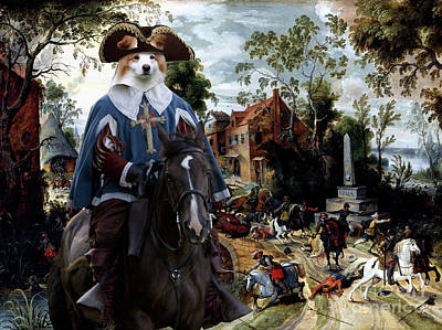 Painting - Border Collie Art Canvas Print - The Battle Of Stadtlohnbys by Sandra Sij