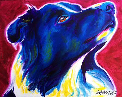 Dawgart Painting - Border Collie - Bright Future by Alicia VanNoy Call