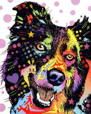 Border Collie Art Print by Dean Russo