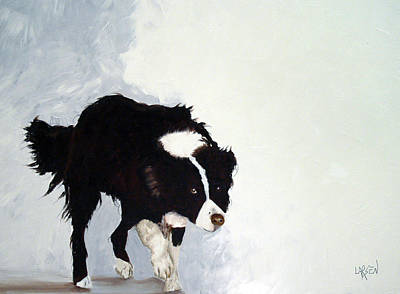 Border Collie Art Print by Dick Larsen