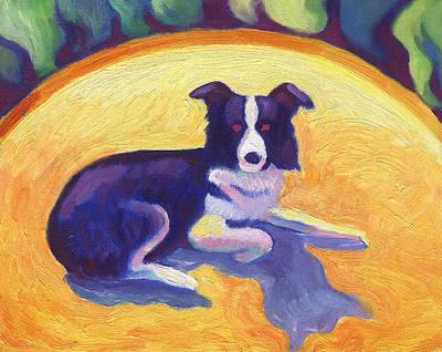 Painting - Border Collie by Linda Ruiz-Lozito