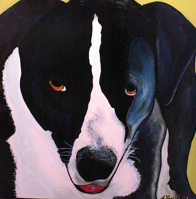 Art Print featuring the painting Border Collie- Sasha by Laura  Grisham