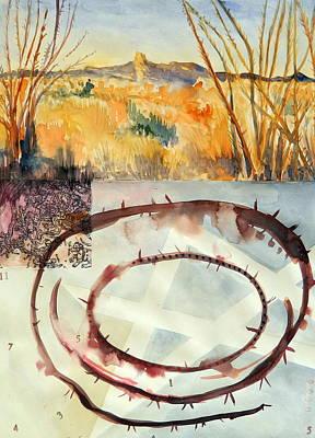 Arizona Cowboy Artist Painting - Border Lands by Bruce Black
