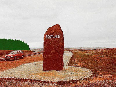 Photograph - Border Marking From England Into Scotland by Merton Allen