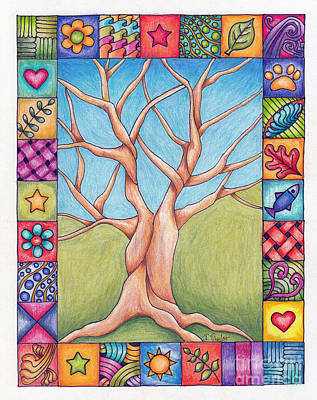 Drawing - Border Of Life by Terry Taylor