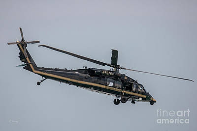 Photograph - Border Patrol Uh-60 Helicopter by Rene Triay Photography