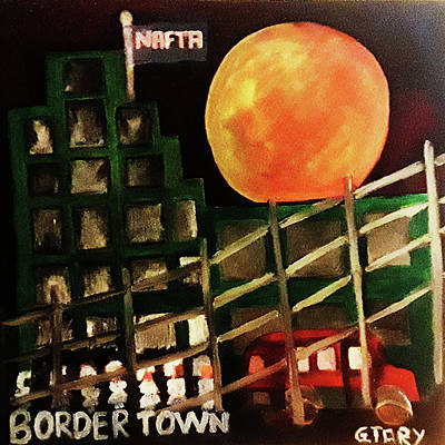 Painting - Border Town by Gabby Tary