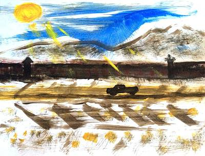 Painting - Border Wall U.s. Mexico by Richard W Linford