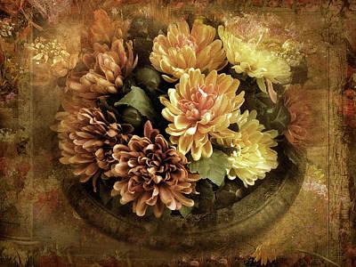Chrysanthemum Wall Art - Photograph - Bordered Mums by Jessica Jenney