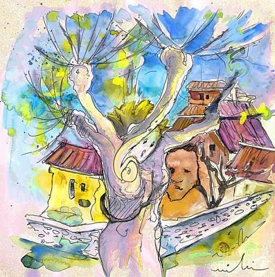 Fantasy Tree Mixed Media - Borderes Sur Echez 04 by Miki De Goodaboom