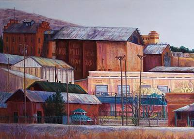 Borderland Mills Art Print by Candy Mayer