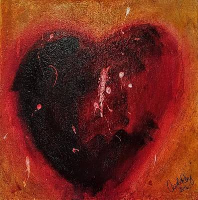 Bpd Painting - Borderline Heart by Carole Ray