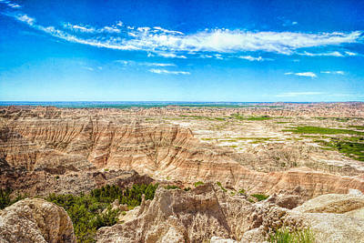 Photograph - Borders Of The Badlands by John M Bailey