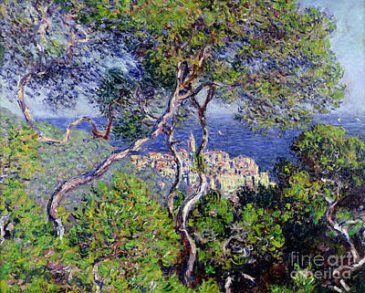 Sunny Day Painting - Bordighera by Claude Monet