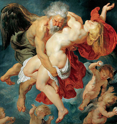 Abducted Painting - Boreas Abducting Oreithyia by Peter Paul Rubens