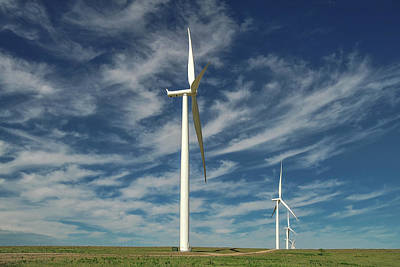 Photograph - Borger Turbines by Scott Cordell