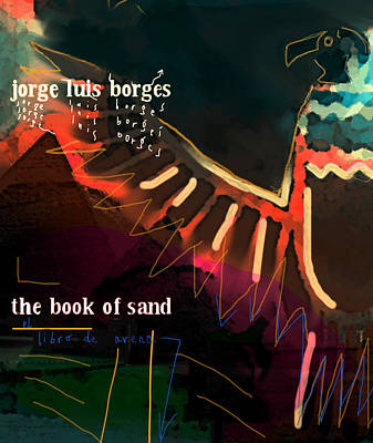 Postmodern Mixed Media - Borges Book Of Sand Poster  by Paul Sutcliffe