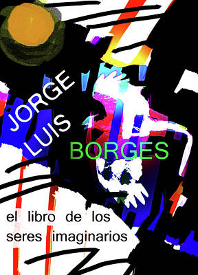 Borges Poster Imaginary Beings Art Print
