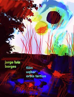 Borges Tlon Poster 2 Art Print
