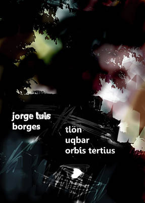 Borges Tlon Poster  Art Print