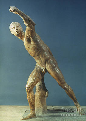 Borghese Painting - Borghese Gladiator by Granger