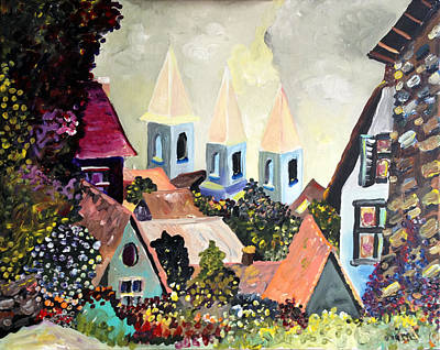 Painting - Old Town  by Patricia Lazaro